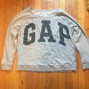 Gap gray crew neck sweatshirt large